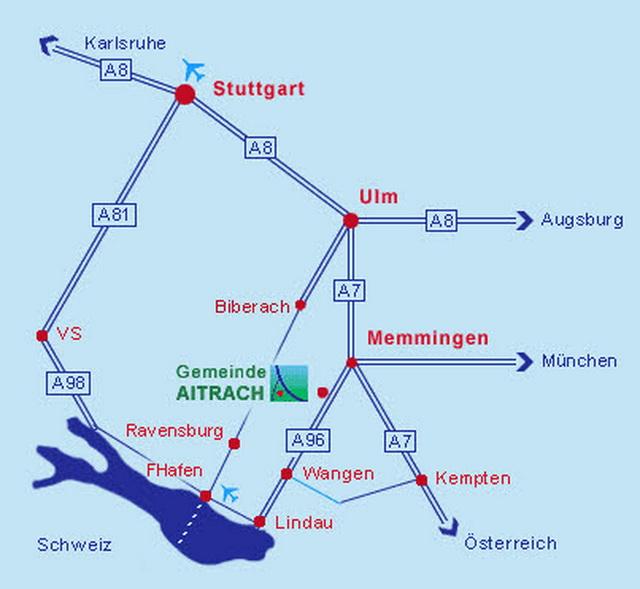 Anfahrt - Ferienwohnung Schreyer Aitrach